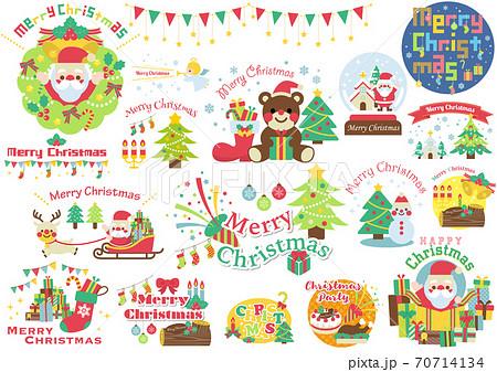 クリスマス アイコン イラスト 70714134