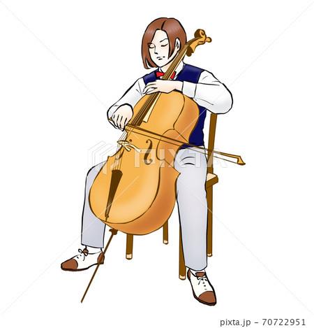 チェロを弾く人 70722951