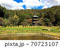 県指定有形文化座安久津八幡神社三重塔  70723107