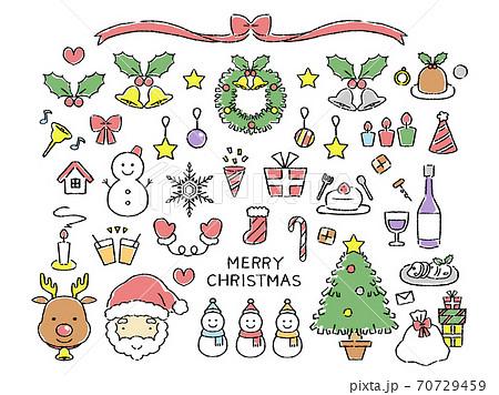 カラーのクリスマス素材 70729459