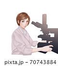 検査する検査技師 70743884