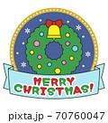 クリスマスリース 70760047