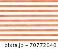 【水彩素材】オレンジ色のボーダー 70772040