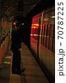 東武鬼怒川線、下今市駅に停車中の特急きぬ(100系) 70787225