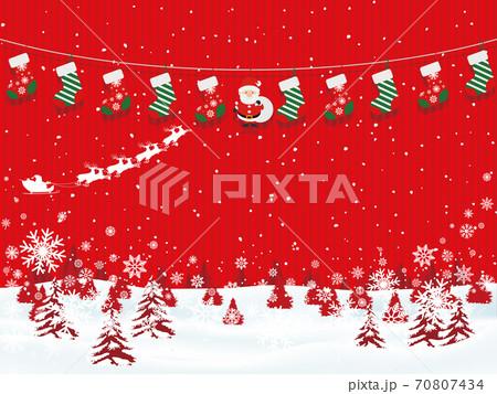 クリスマスイメージ素材 70807434