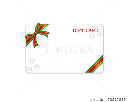 クリスマスのギフトカード装飾テンプレート 70812856