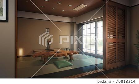 ゲーム背景 和室‐昼 70813314
