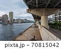 東京散歩、東京都台東区浅草近辺、隅田川橋巡り、蔵前橋近辺、厩橋 70815042