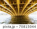 東京散歩、東京都台東区浅草近辺、隅田川橋巡り、蔵前橋 70815044