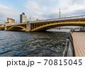 東京散歩、東京都台東区浅草近辺、隅田川橋巡り、蔵前橋 70815045