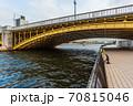 東京散歩、東京都台東区浅草近辺、隅田川橋巡り、蔵前橋 70815046