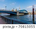 東京散歩、東京都台東区浅草近辺、隅田川橋巡り、駒形橋、 70815055