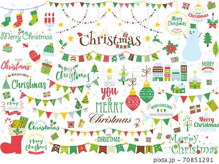クリスマスイラスト&ロゴ 70851291