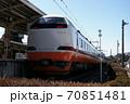 東武鬼怒川線、鬼怒川温泉駅に停車中の特急きぬがわ(JR485系) 70851481