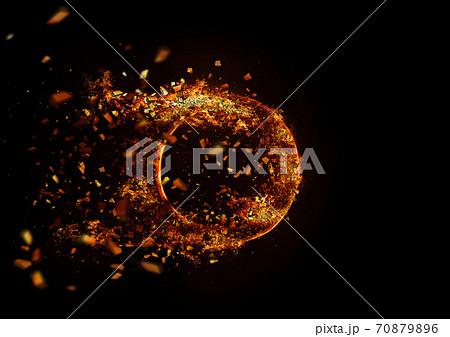 爆発する火の輪 70879896