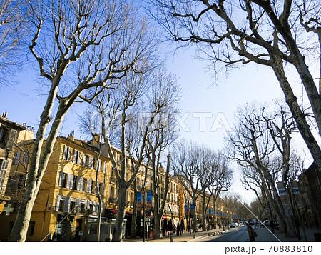 南仏エクス・アン・プロヴァンス ミラボー通りの街路樹(フランス) 70883810