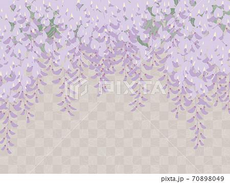 藤の花の背景_和風イラスト_藤棚 70898049