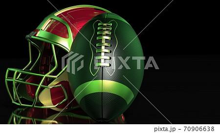 アメリカンフットボールの3Dイラスト 70906638