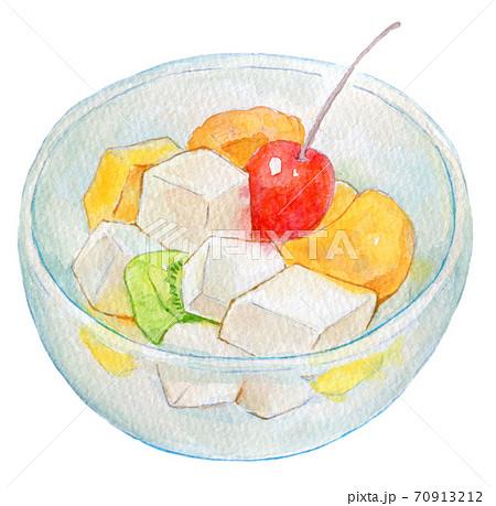 水彩イラスト 食品 フルーツポンチ 70913212