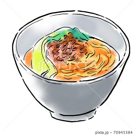 食べ物 イラスト 担々麺 70945384