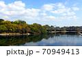 秋の美しい岡山の町並み 70949413