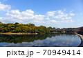 秋の美しい岡山の町並み 70949414