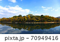 秋の美しい岡山の町並み 70949416