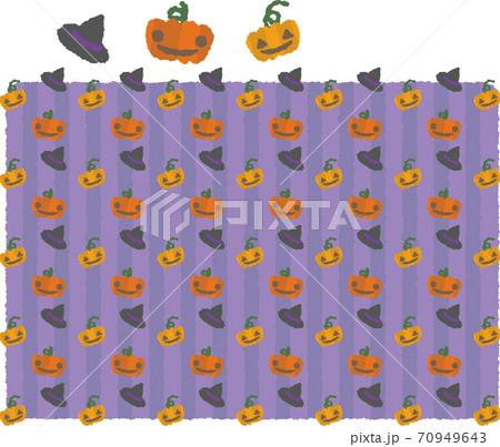 ハロウィンかぼちゃ&魔女帽 70949643