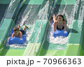 Funny Fall on Water Slide 70966363
