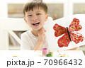 Kid Painting at Kindergarten 70966432