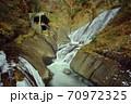 観漠台と氷瀑の風景/袋田の滝(茨城県) 70972325