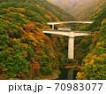 紅葉の会津鉄道 70983077
