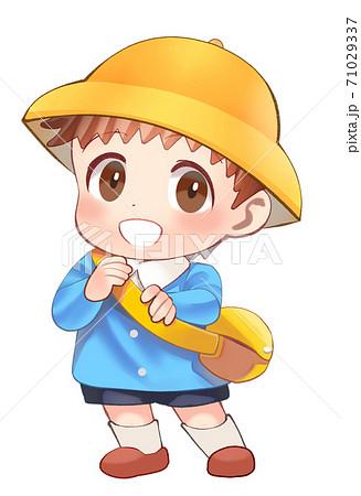 かわいい幼稚園生のイラスト 71029337