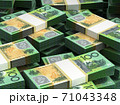 Stack of Australian Dollar 71043348