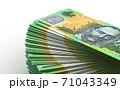 Stack of Australian Dollar 71043349