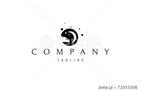 Vector logo on which an abstract image of the night sky where there is a bun instead of a cloud. 71055306