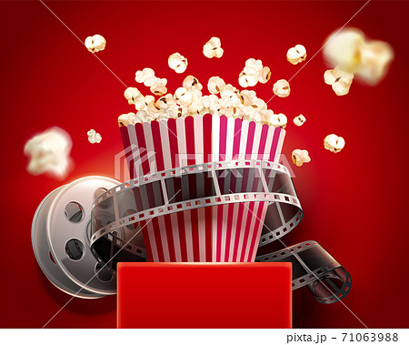 Popcorn box with cinema reel 71063988