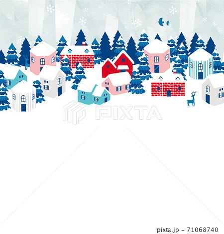 冬の街並み背景イラスト 71068740