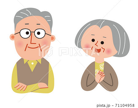 笑顔の高齢夫婦 71104958