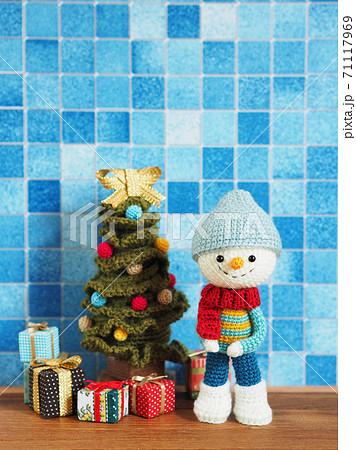 かわいい動物のあみぐるみ クリスマス 71117969