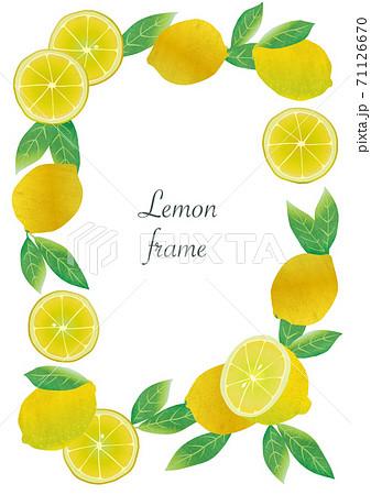 いろんなレモンのイラストフレーム 71126670