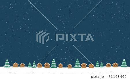 針葉樹と雪の景色のイメージイラスト 71143442