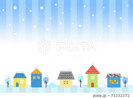 街並み 住宅 冬 背景素材 71152372