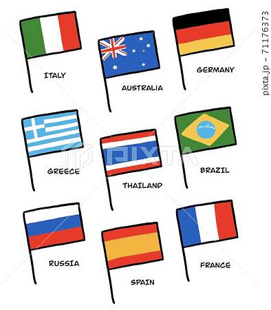 国旗のイラスト 71176373
