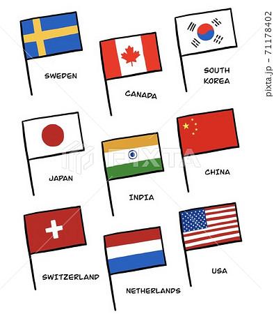 国旗のイラスト 71178402
