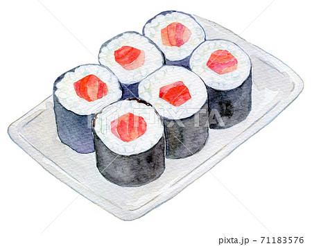 水彩イラスト 食品 鉄火巻き 71183576