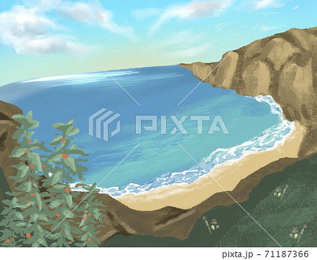 海辺のイラスト 71187366