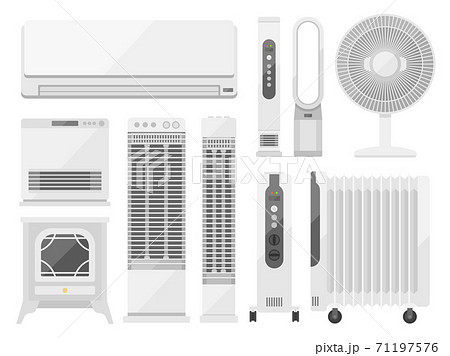 暖房器具のイラストセット 71197576