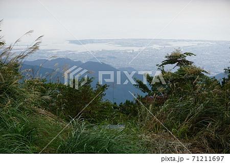 竜爪山文殊岳山頂からみる清水区方面 71211697