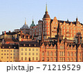 Stockholm's skyline architecture in late afternoon, Sweden 71219529